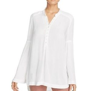 {free people} bell sleeve button down blouse